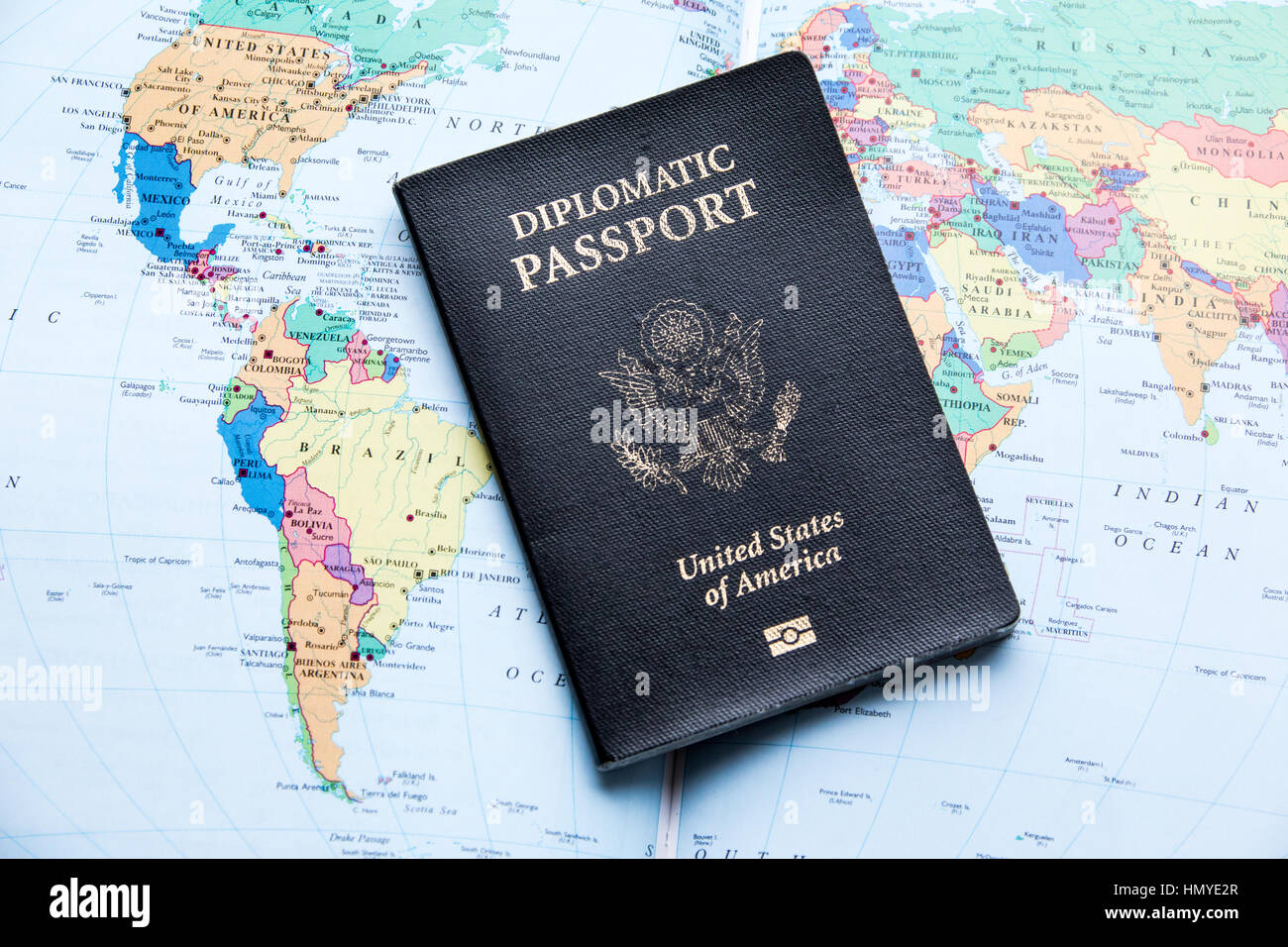 Diplomatic Passport Of The United States Of America Stock