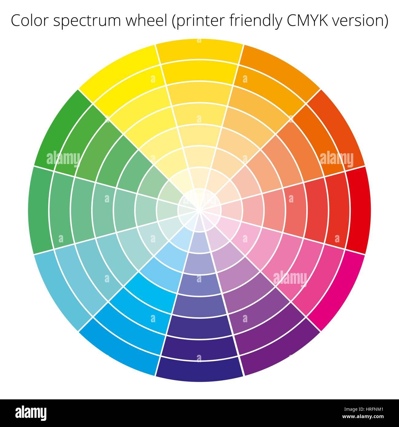 Vector Color Spectrum Cmyk Palette On White Background