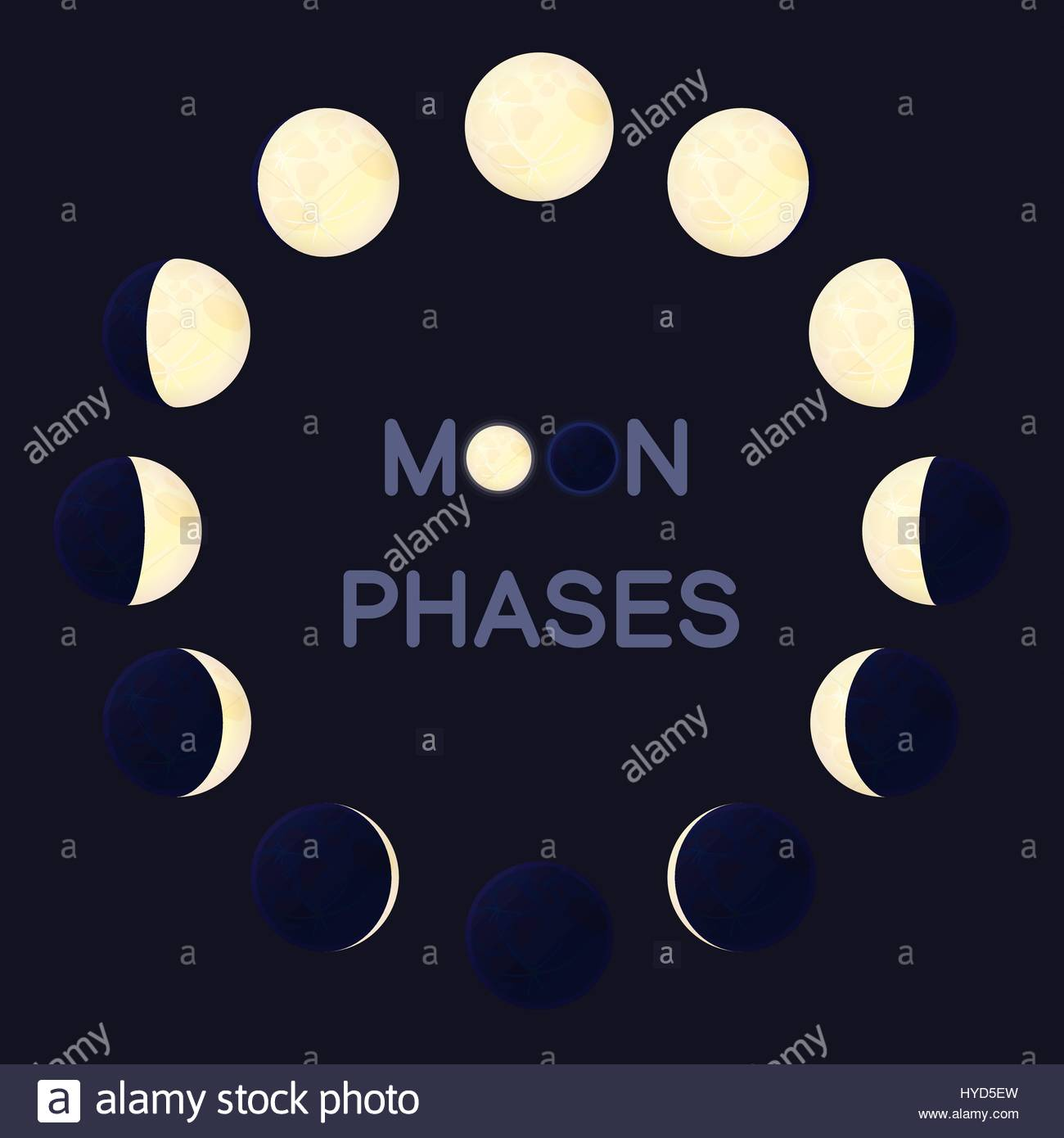 Moon Phases Stock Vector Images