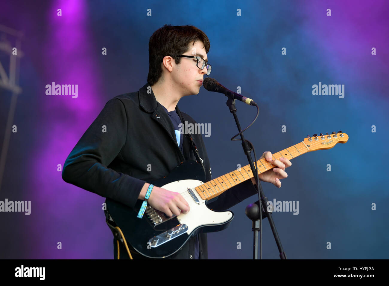 BARCELONA   JUN 2  Car Seat Headrest  band  perform in concert at     BARCELONA   JUN 2  Car Seat Headrest  band  perform in concert at Primavera  Sound 2016 Festival on June 2  2016 in Barcelona  Spain