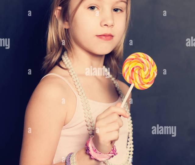 Sweet Fashion Teen Girl Portrait