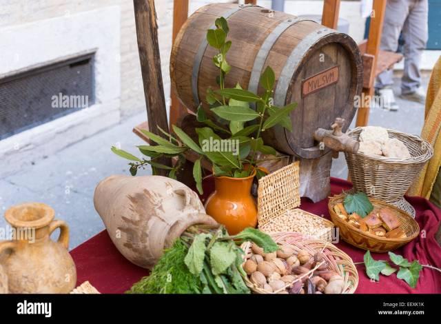 Ancient Roman Food Stockfotos & Ancient Roman Food Bilder ...