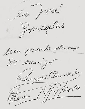 Autografo Ruy de Carvalho