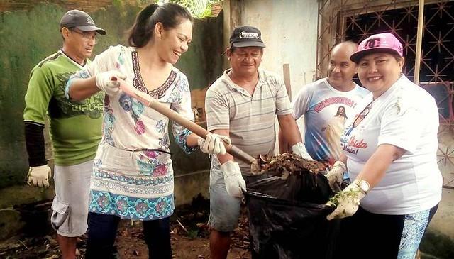 Prefeita de Faro comanda limpeza de ruas no início do mandato, Jade Abreu, prefeita de Faro