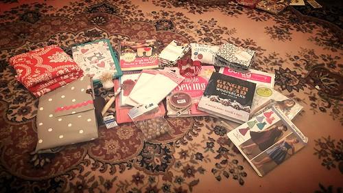 stitching santa presents