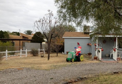 Tucson santa on a tractor