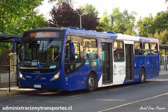 Transantiago 218e | Subus | Caio Millenium - Volvo / FLXP45