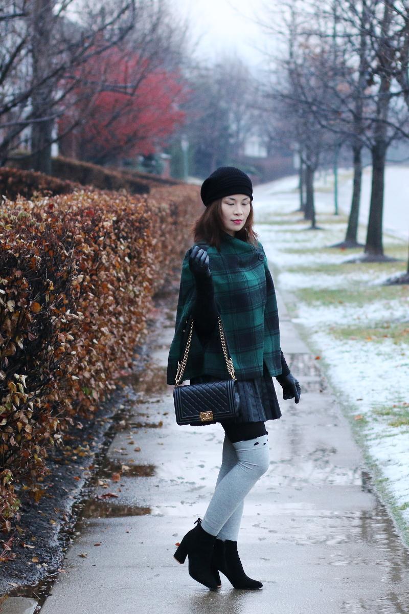 green-plaid-cape-knee-high-socks-chanel-bag-2