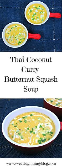 Thai Coconut Curry Butternut Squash Soup