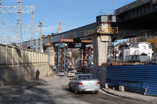 Viaduct for the 'Kurortny Prospect backup highway' through Sochi