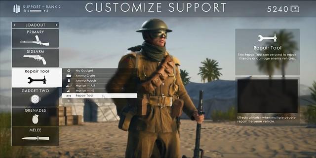 Battlefield 1 - Support-Klasse