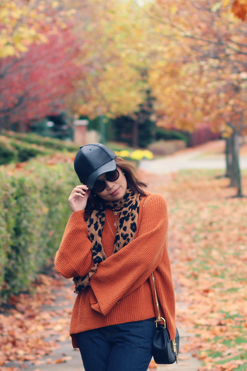 thanksgiving-outfit-fall-style-bp-sweater-faux-leather-cap-2