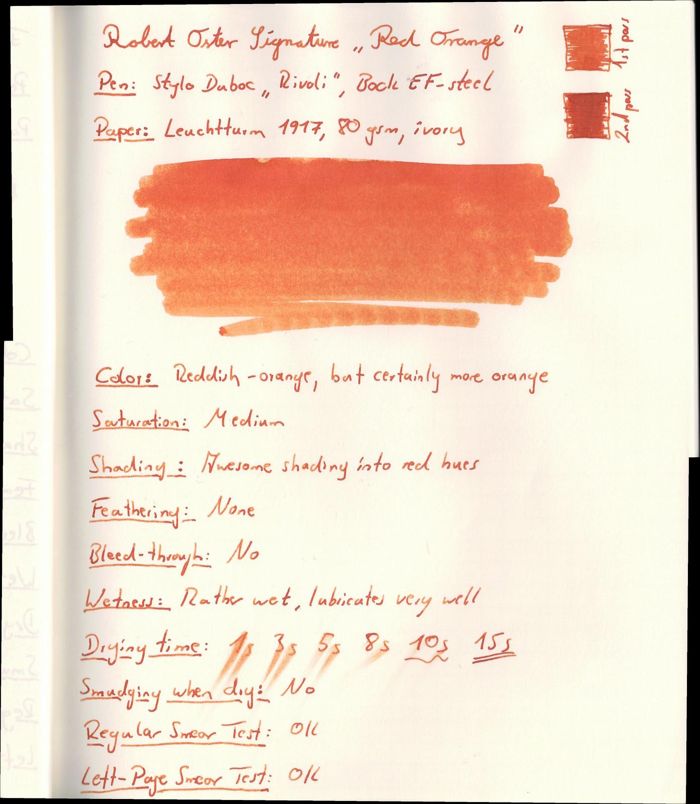 "Robert Oster Signature Ink ""Red Orange"""