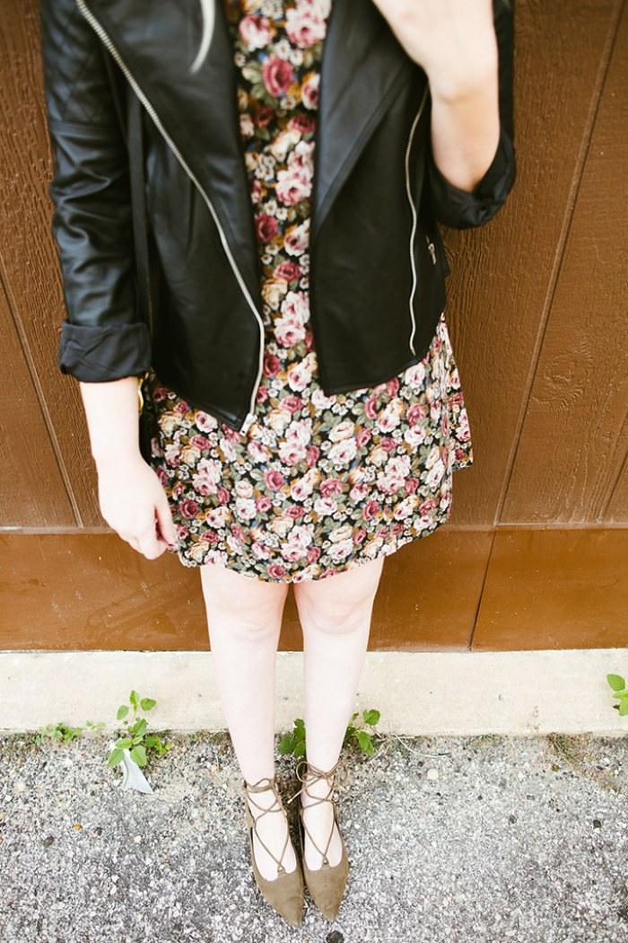 writes like a girl vintage floral dress bb dakota pierre moto jacket17