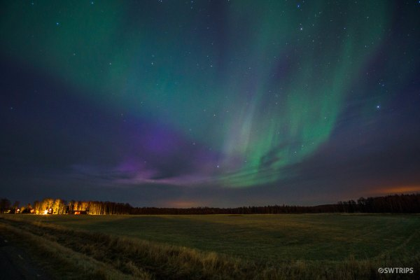 Aurora over Lovanger - Lovanger, Sweden.jpg
