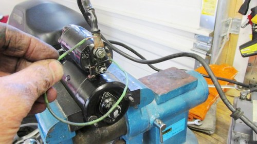 Solenoid Spade Terminal Wire Starts Motor When Touching (+) Terminal