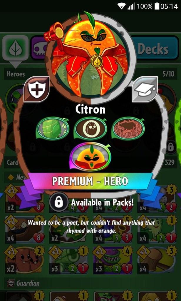 plant hero list citron