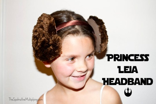 Princess Leia Chenille Buns Headband