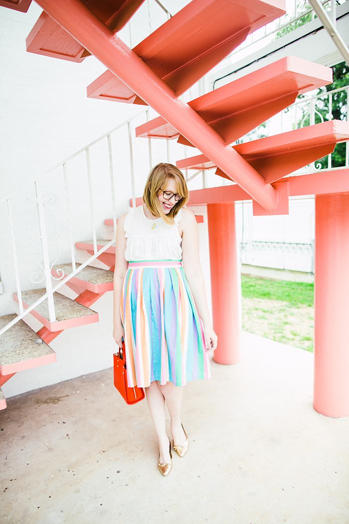 ModCloth Aspiration Creation skirt
