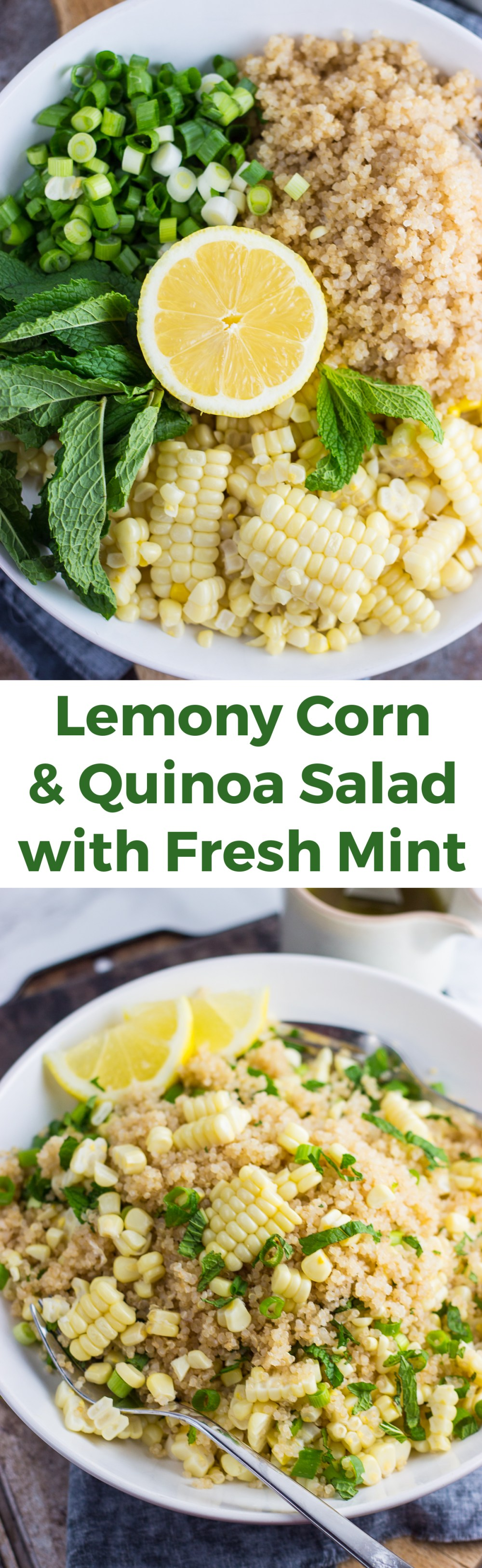 Lemony Corn and Quinoa Salad with Mint Recipe