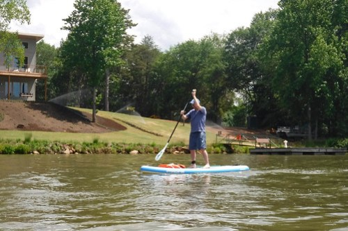 Kayaking and SUP on Saluda Lake-8
