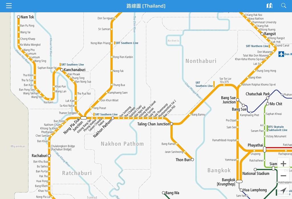 Thailand Rail maps Bangkok