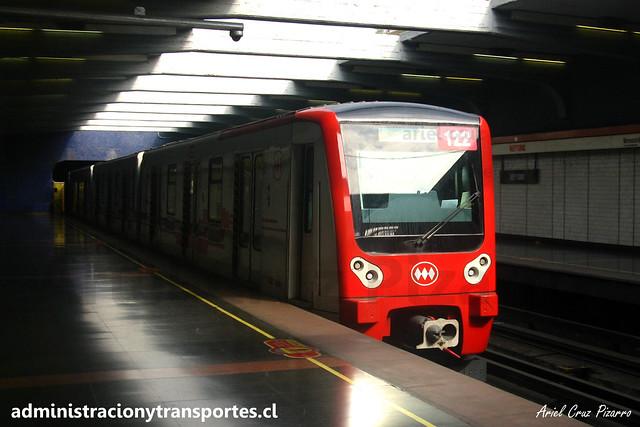Metro de Santiago | Neptuno (L1) | CAF NS2012 N2122