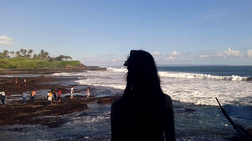 Briana overlooking Tanah lot Beach Bali