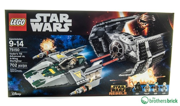 lego star wars 75150 vader s tie advanced vs a wing starfighter  review  the brothers brick Death Star LEGO Friends LEGO Death Star Giant
