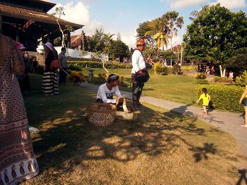 Snake Handler at Tanah Lot Bali