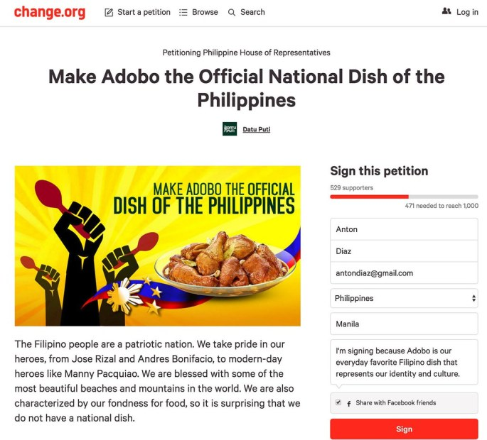 Change.Org Adobo Movement