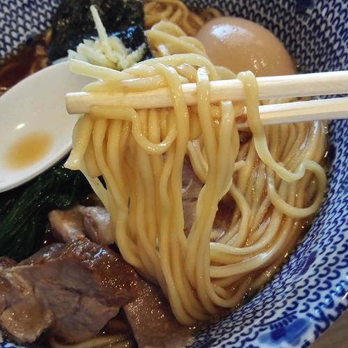 かみの屋@五反野、ストレート麺