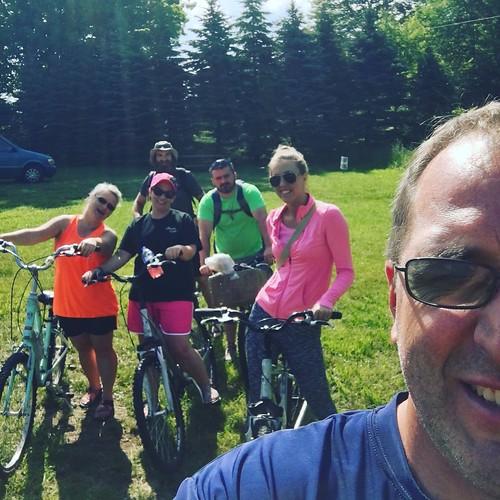 fun riding down the VA Creeper Trail with friends!