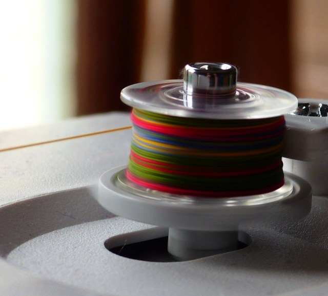 Winding a rainbow bobbin
