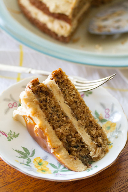 Chai Banana Cake with Brown Sugar Buttercream
