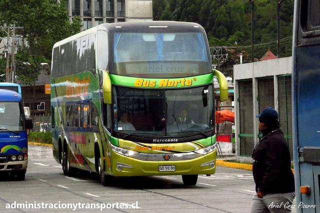 Bus Norte (Cama Ejecutivo) | Puerto Montt | Marcopolo Paradiso 1800 DD G7 - Volvo / GDVG30 - 212