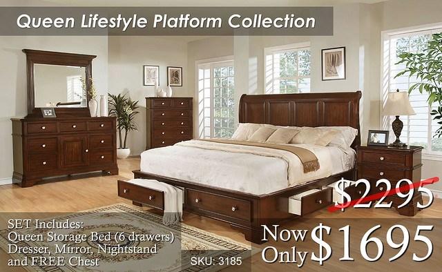 Queen Lifestyle Platform 3185