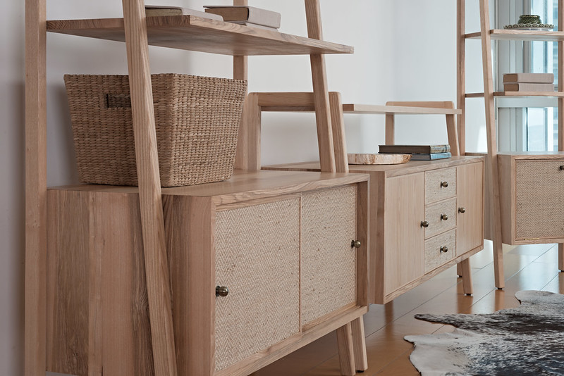 Copen Media Storage and Shelves- Lifestyle Shot- Close Up