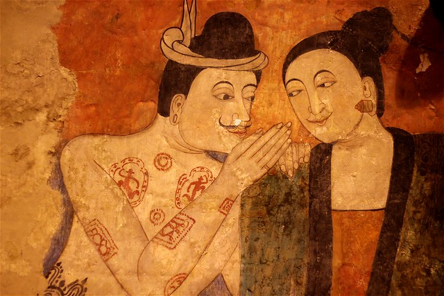 Whispering Mural at Wat Phumin