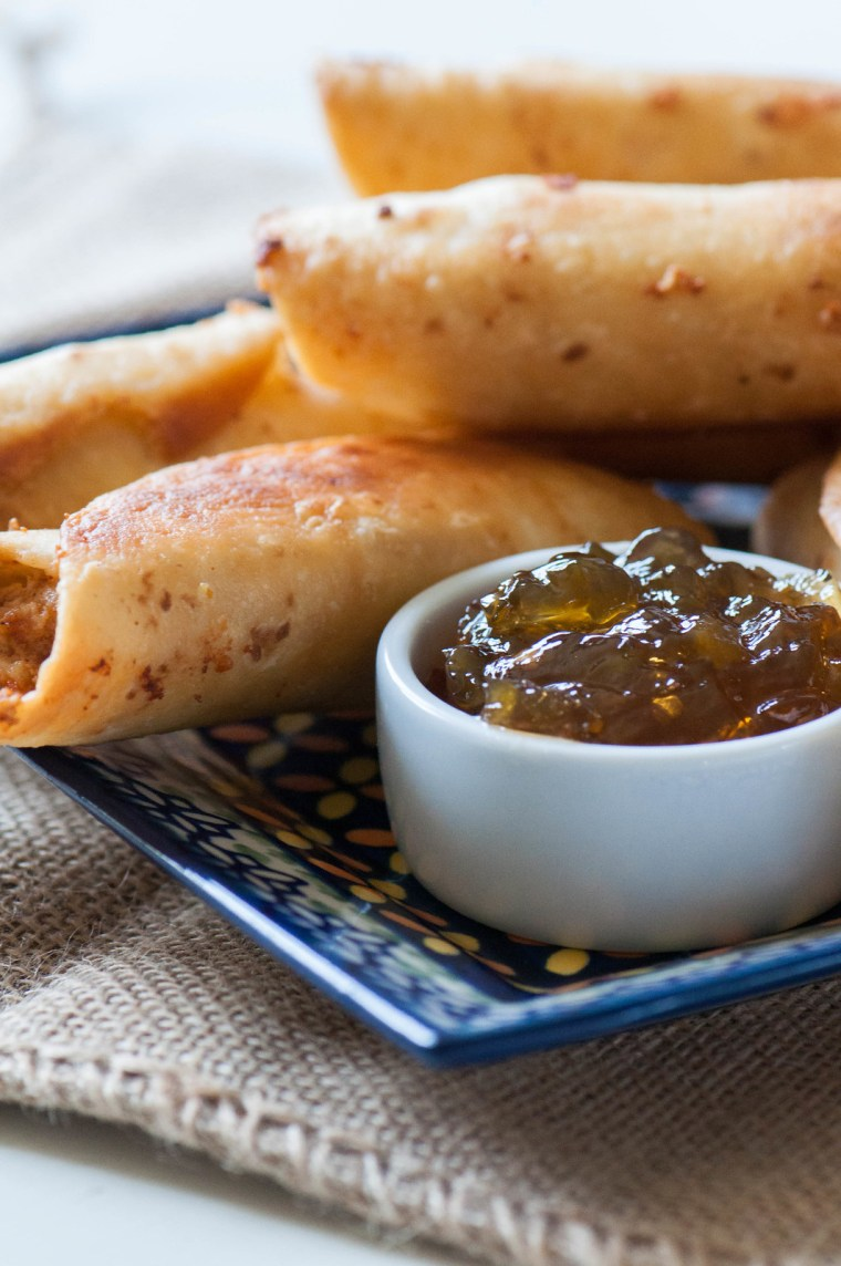 Cream Cheese Chicken Flautas with Jalapeno Jelly 3