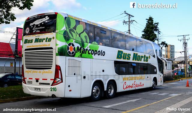 Bus Norte (Cama Ejecutivo) | Puerto Montt | Marcopolo Paradiso 1800 DD - Volvo / GCKV19 - 210