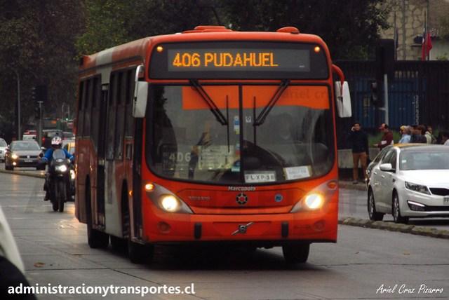 Transantiago - 406   Express   Marcopolo Gran Viale - Volvo (Biportal) / FLXP38