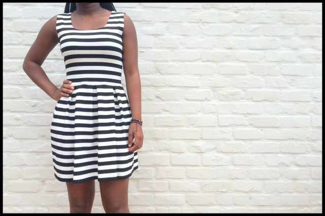 striped teenage dress