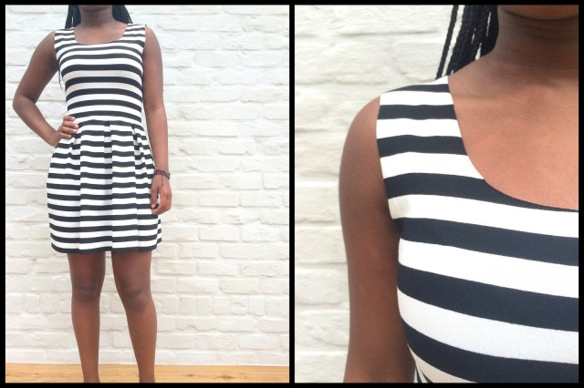 striped teenage dress (collage)