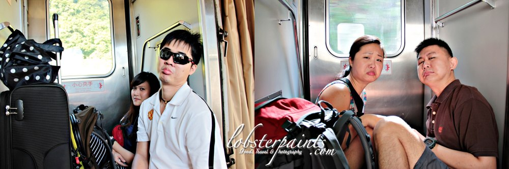 14 September 2012: On board railway train en route to Hualien...