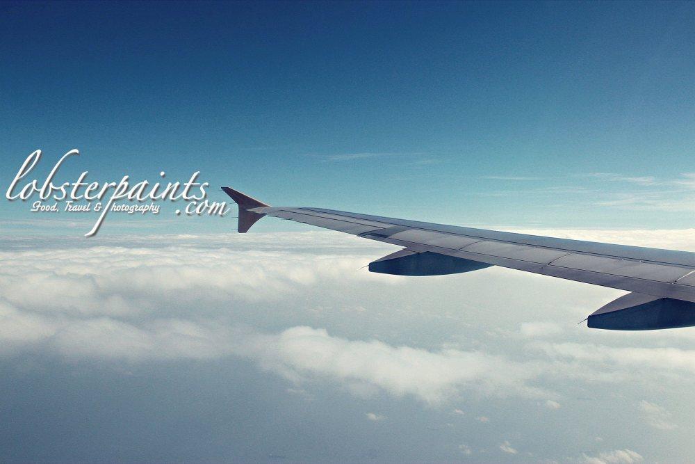12 September 2012: On board flight enroute to Taoyuan International Airport...
