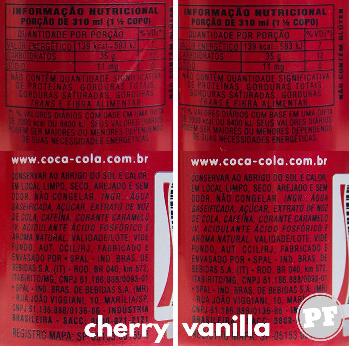 Coca-Cola Limitada: Cherry e Vanilla