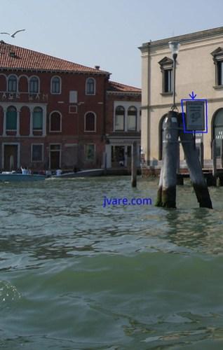 Control de velocidad en un canal de Venecia