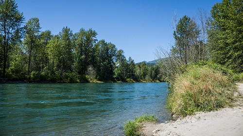 Skagit River and Baker River Confluence-002