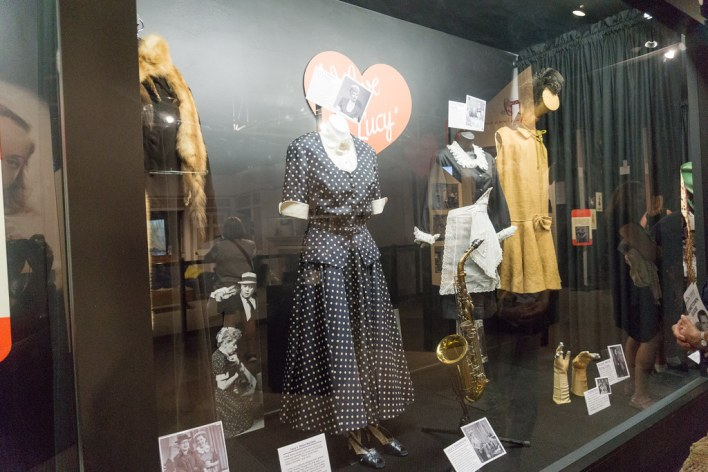 Some of Lucille Ball's Costumes On Display at Desilu Studios in Lucille Ball's Hometown of Jamestown, N.Y., Aug. 6, 2016